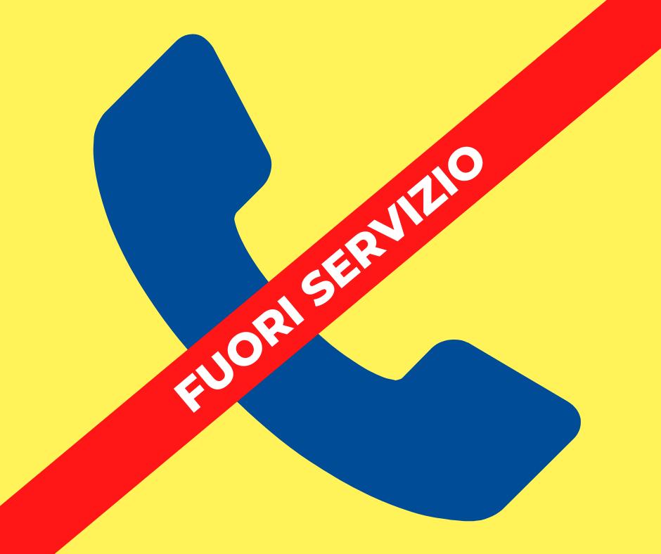 Avviso: temporanea indisponibilità linee telefoniche Cidiu