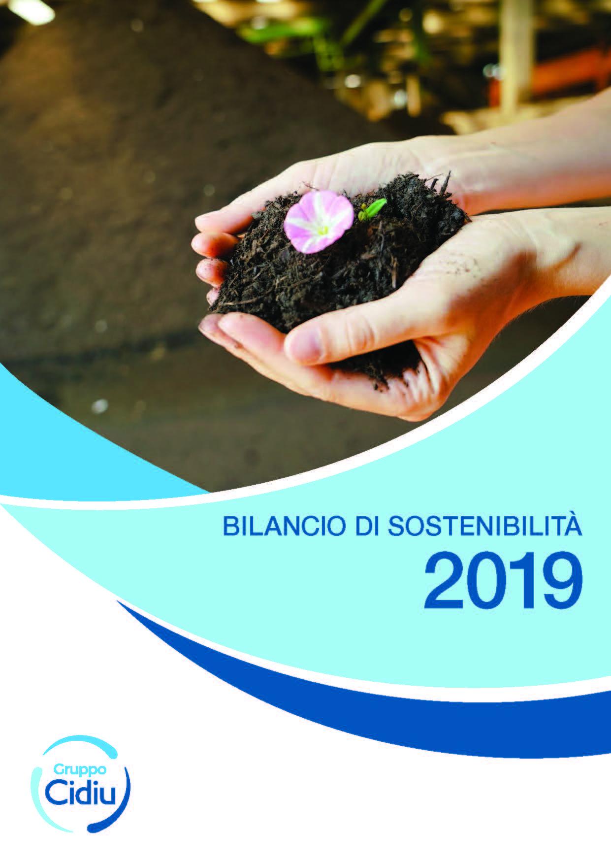 Copertina bilancio sostenibilità anno 2018