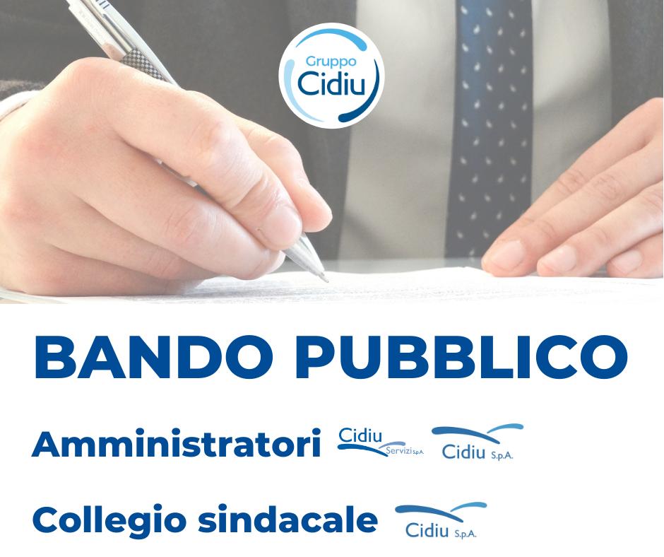 Bando pubblico – ricerca Amministratori e componenti Collegio Sindacale